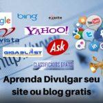Aprenda Divulgar seu site ou blog gratis na internet