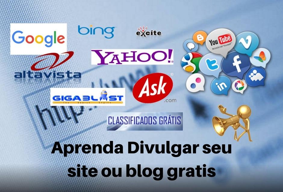 divulgar seu site ou blog gratis